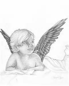 240x300 Child Angel Drawings In Pencil