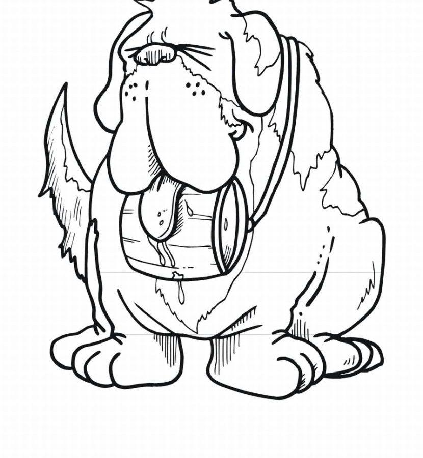 830x900 Labrador Retriever Coloring Page Free Dog St Bernard Printable