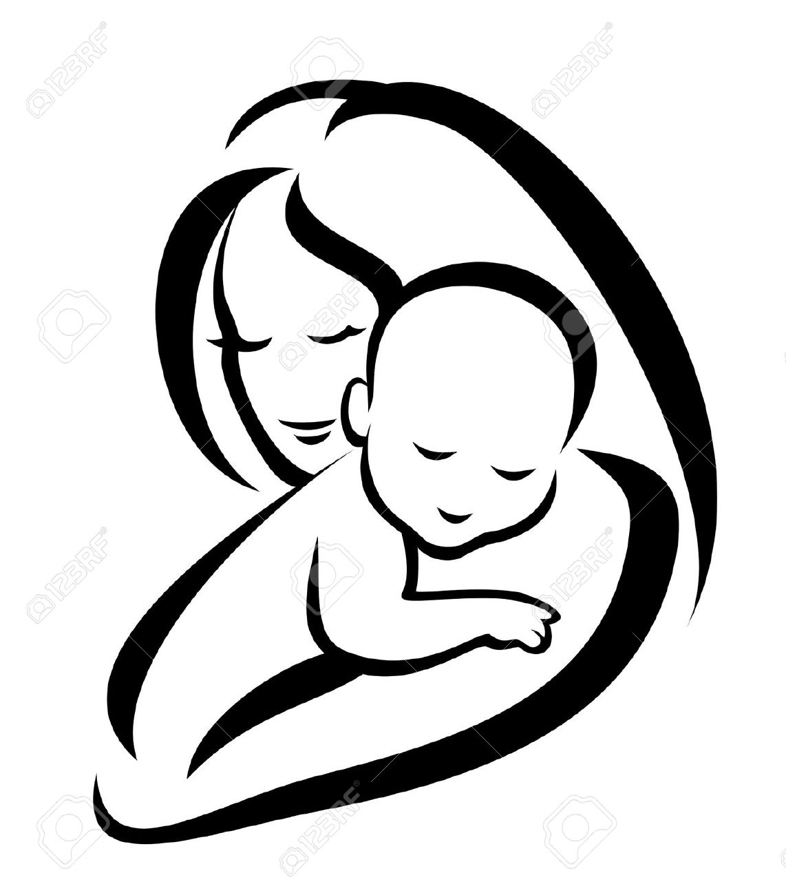 1142x1300 Mother Hugging Child Skech Mother And Child Drawing Free
