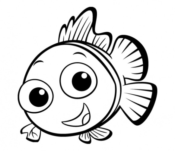 580x501 Fish Drawings For Kids