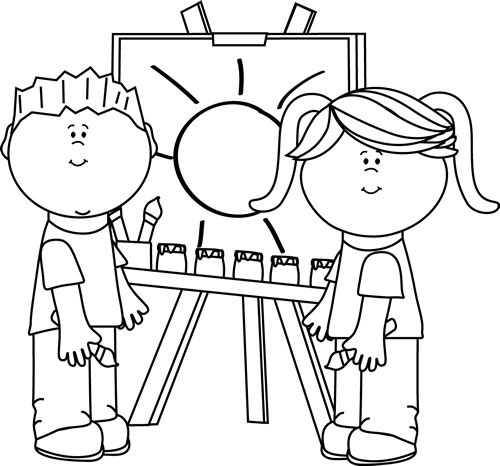 500x466 Child Drawing Clipart Black And White Letters Example