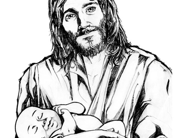 600x450 Jesus Holding A Child Clipart Free