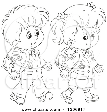450x470 Walking Clipart Black And White