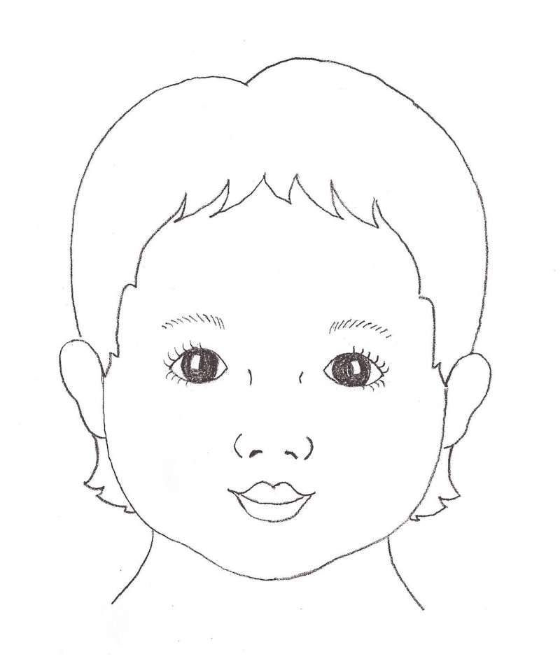 800x945 Child Face Template Re Face Outlines Face Painting Setup