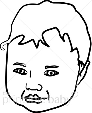 317x388 Child's Face Outline Clipart New Baby Clipart