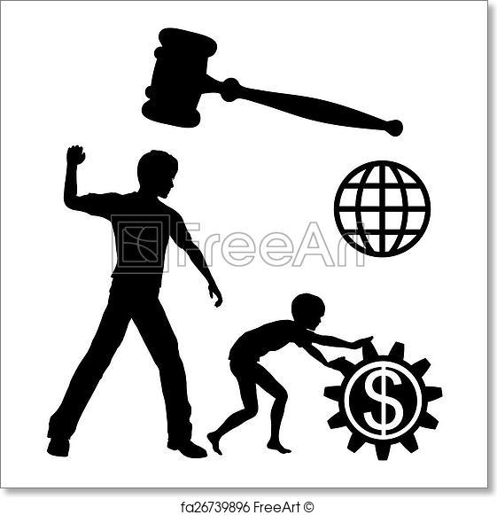 561x581 Free Art Print Of Ban Child Labor. Child Laborers Being Abused By