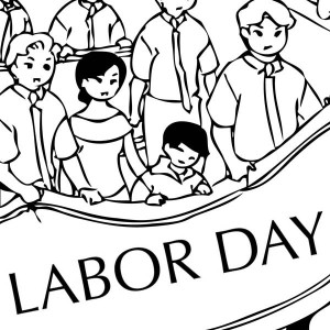 300x300 Stop Children Labor In Labor Day Coloring Page Color Luna