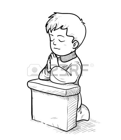 Child Praying Drawing