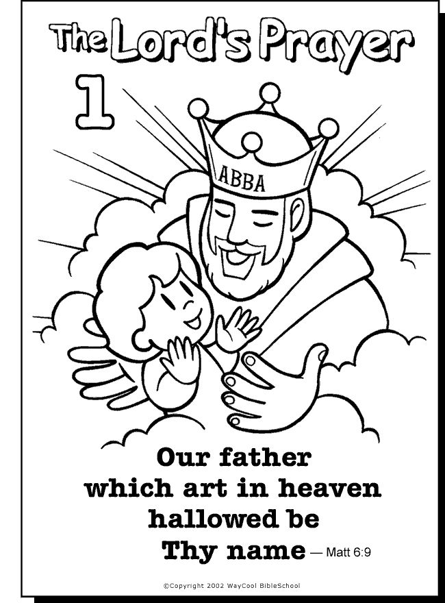 650x880 Kids Coloring Pages For The Lords Prayer Snazzy Draw Printable