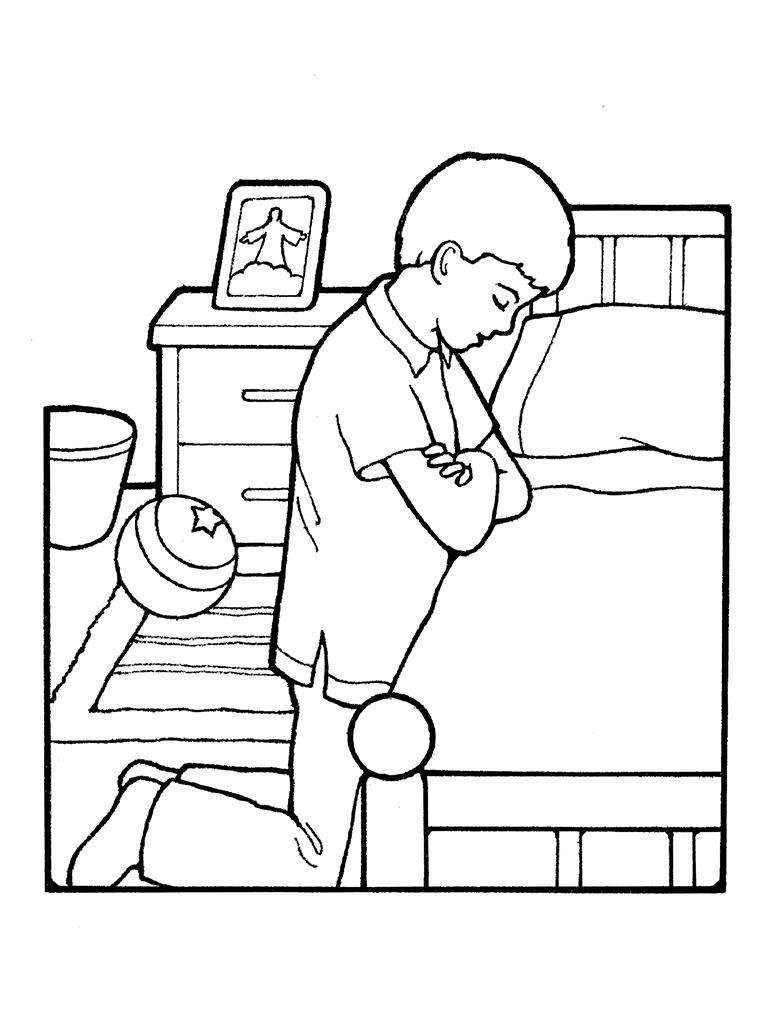 768x1024 boy praying color little boy praying coloring page