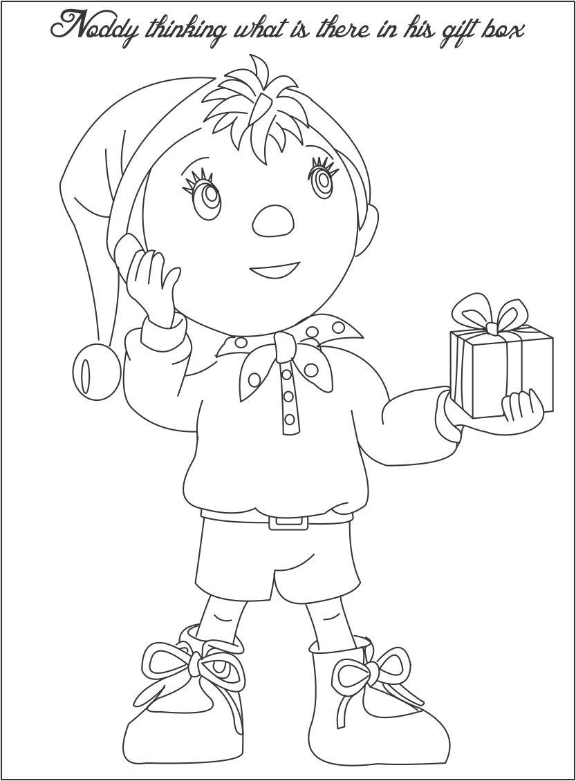 833x1130 Noddy Thinking Something Coloring Page For Kids