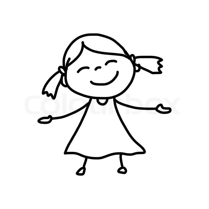 800x800 Set Cartoon Children Stock Photo. Stock Vector Of Hand Drawing