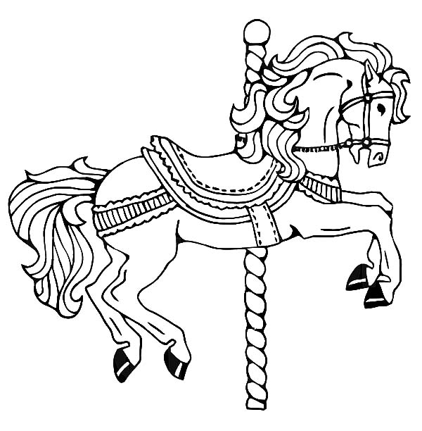600x612 Childhood Memory Carousel Horse Coloring Pages Best Place To Color