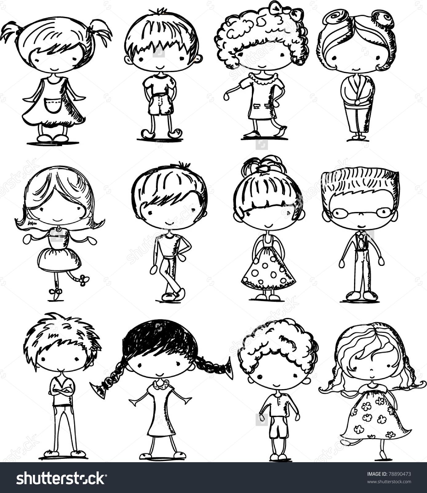 1388x1600 Cartoon Drawings Of Children Art Cartoon Drawings