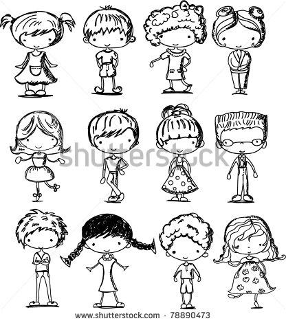416x470 Cartoon Drawings Of Children Dehersi Boy