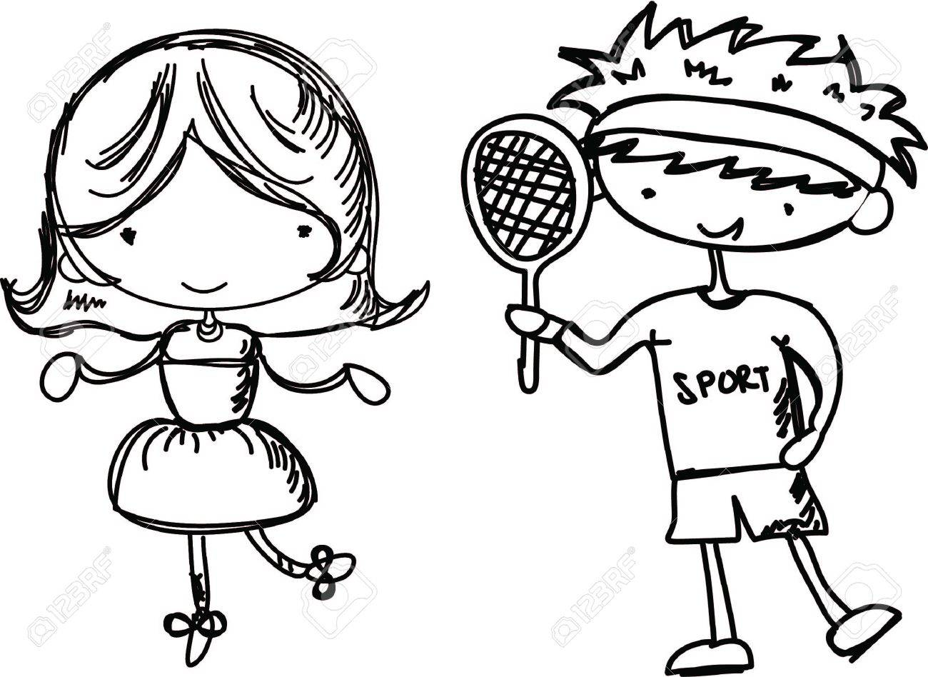 1300x948 Cartoon Drawings Of Fashionable Children Royalty Free Cliparts