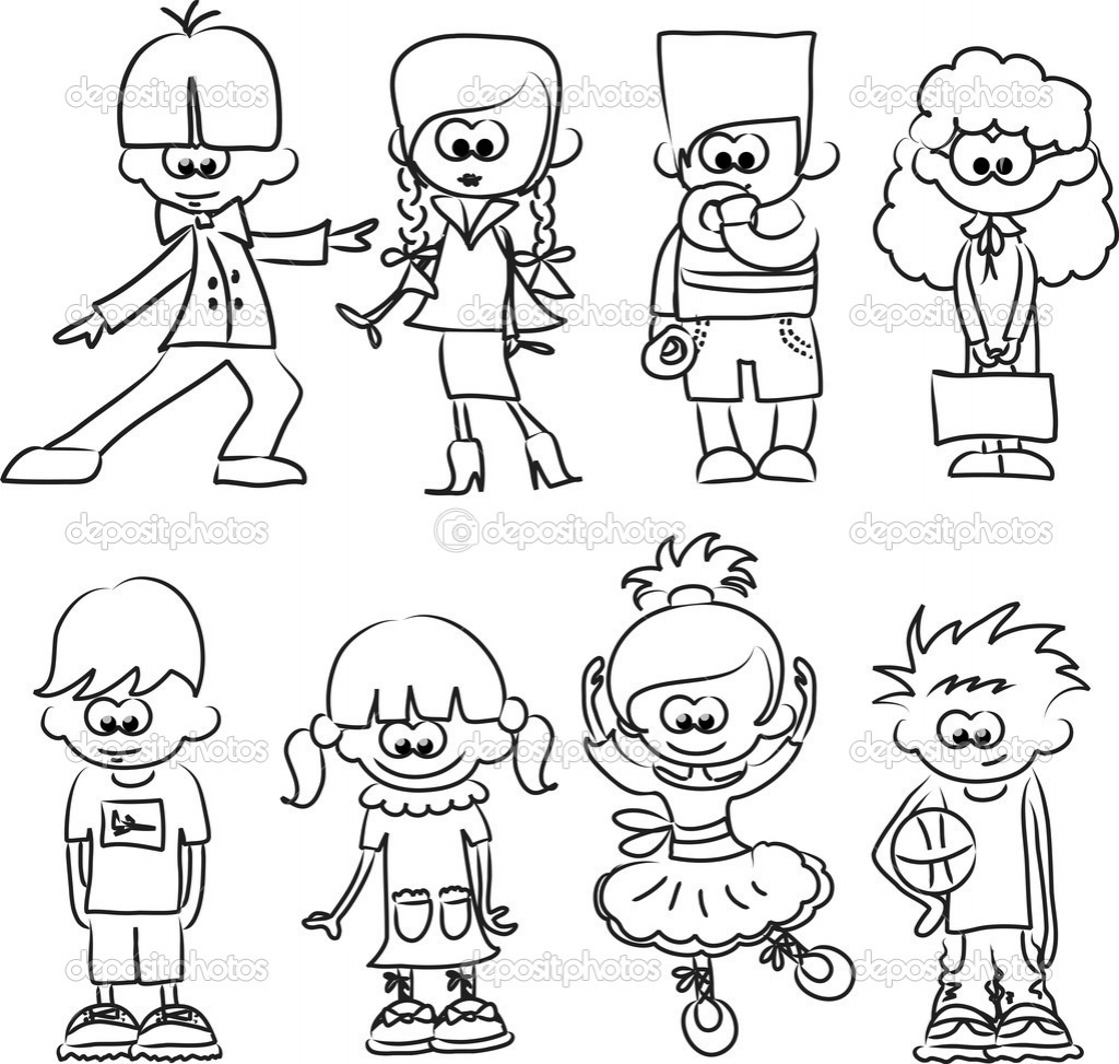 1024x973 Drawing Sketches For Children Cartoon Drawings Of Children Stock