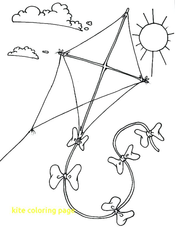 Children Flying Kites Drawing at GetDrawings Free
