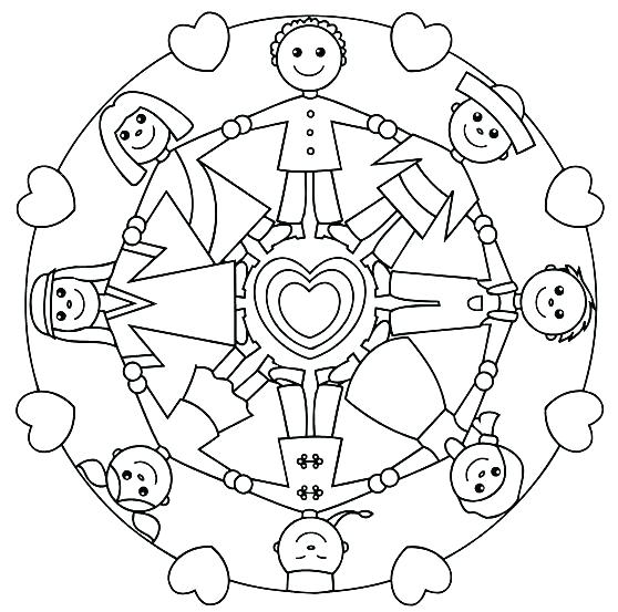 558x553 Children Of The World Coloring Pages Online Children Of The World