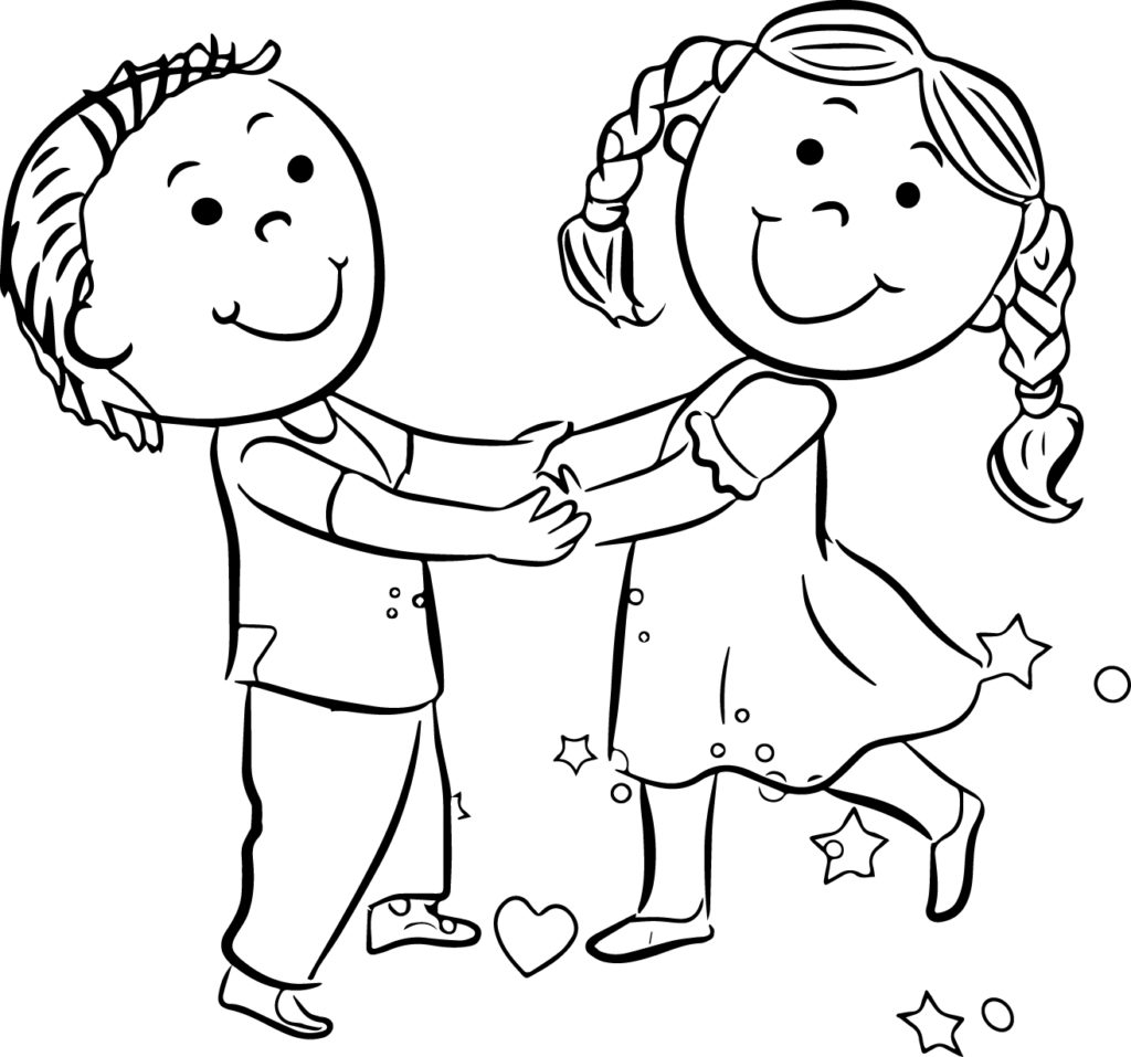 1024x957 Children Playing Coloring Pages Coloring Pages Now Children