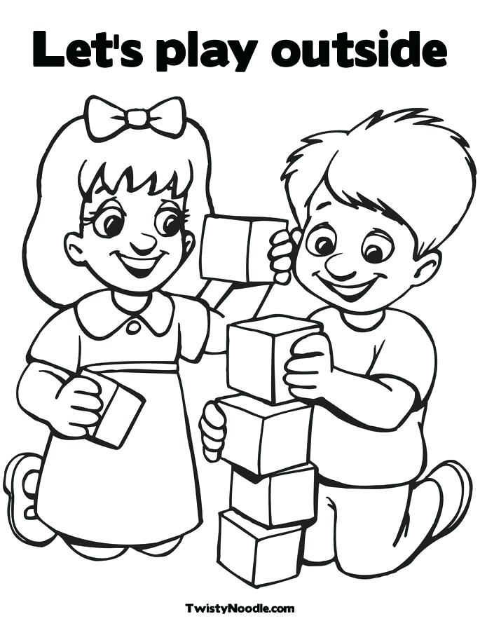 685x886 Children Coloring Books Together With Children Playing Colouring