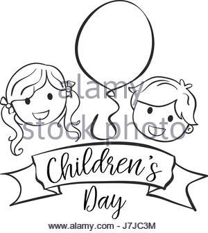 300x336 Children Day Hand Draw Style Vector Art Stock Vector Art