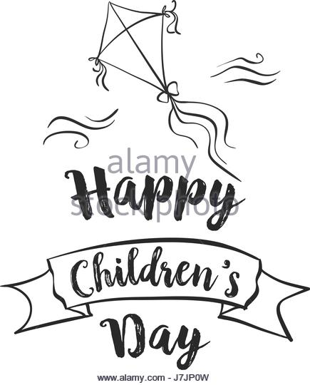 435x540 Happy Children's Day Clipart Black And White