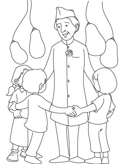 420x556 Jawahar Lal Nehru Coloring Page Download Free Jawahar Lal Nehru