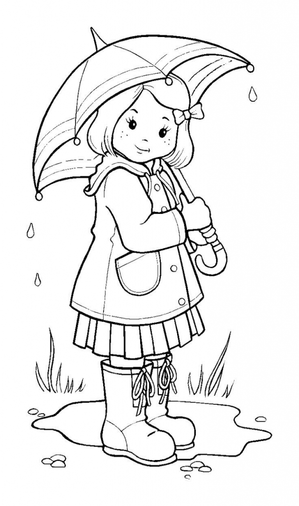 606x1024 Rainy Day Drawing For Children Childrens Drawing Happy Family