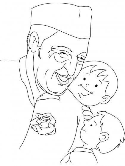 420x556 Chacha Nehru Coloring Page Download Free Chacha Nehru Coloring