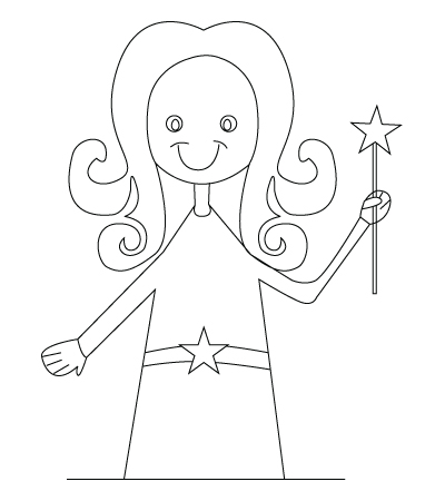 400x450 Fairy Drawing Childrens Drawings