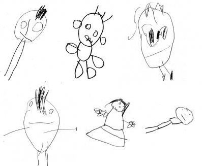 397x327 Four Year Old Children's Drawings Indicate Intelligence In Teenage