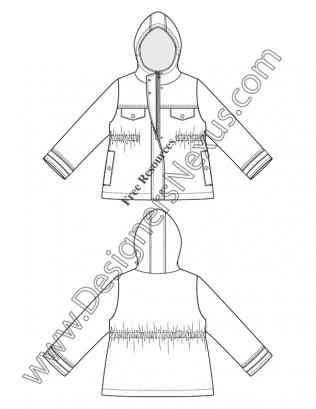 316x409 Free Illustrator Fashion Flat Sketches Childrens Apparel