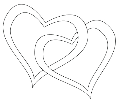 400x350 Two Hearts Drawing Childrens Drawings