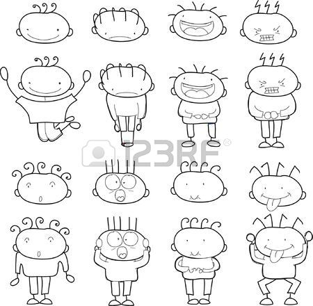 450x440 Children's Drawings Of Doodle Boy In Love Royalty Free Cliparts