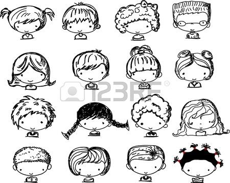 450x359 Drawing Girl Kid Image Vector Illustration Eps 10 Royalty Free