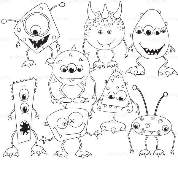 600x600 Monsters Coloring Page Monsters, Child And Scary Monsters
