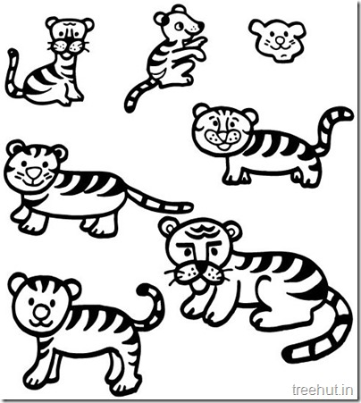 404x451 Tiger And Tiger Face Coloring Pages (1) Printables