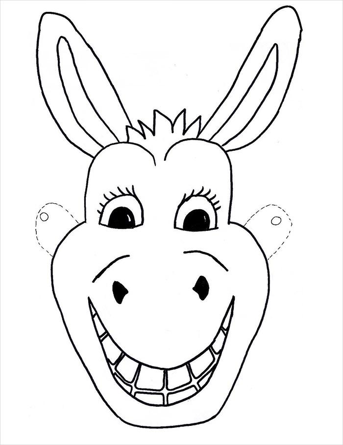 700x906 Animal Mask Template