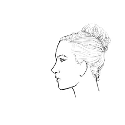 400x400 How To Draw A Female Face In Profile Sharenoesis