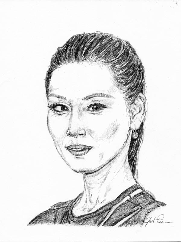 600x800 Take The Mystery Out Of Drawing Lucy Liu Let's Draw People