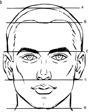 300x376 Como Aprender A Dibujar Caras Paso A Paso Dibujo