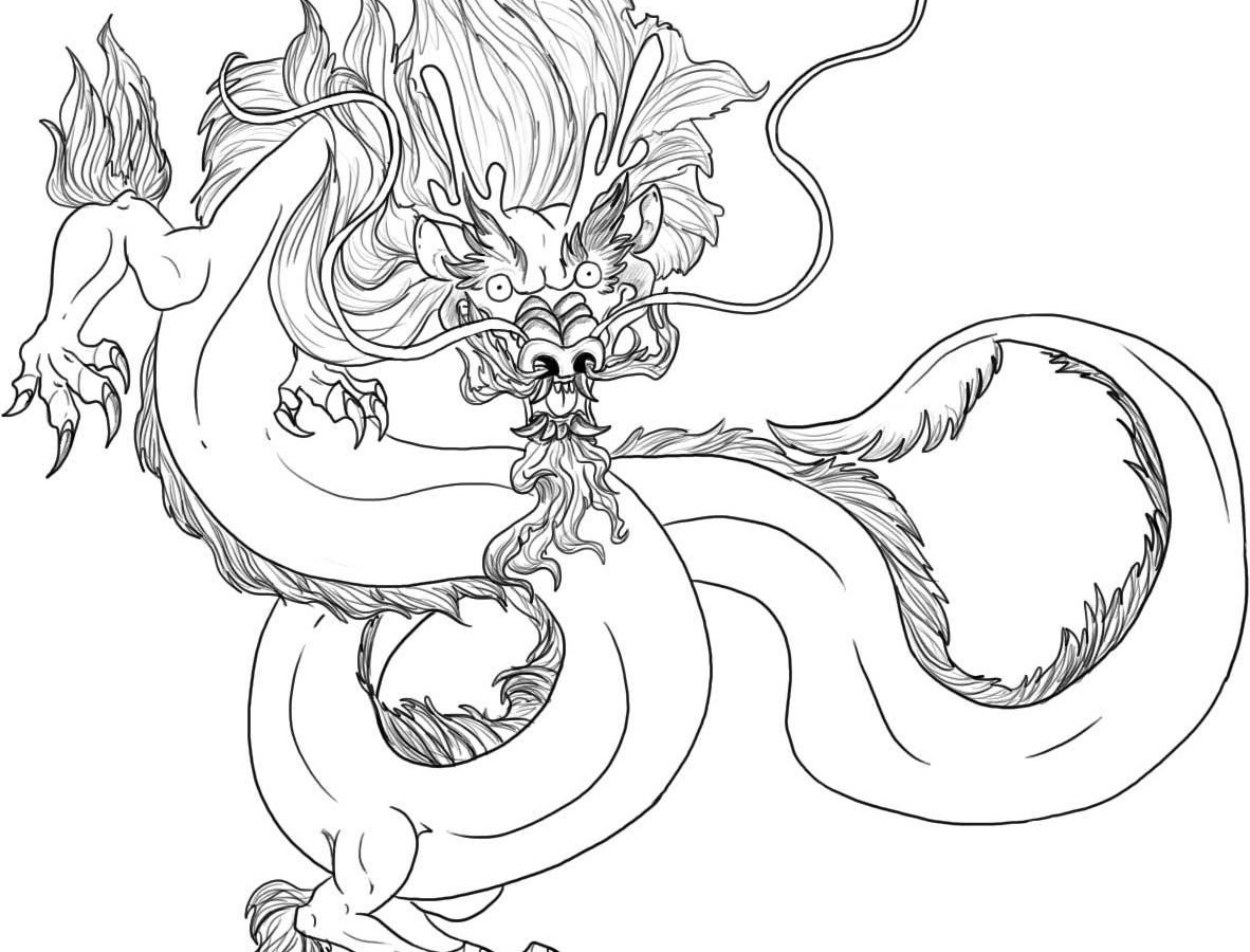 1182x900 Chinese New Year Coloring Pages Dragon Free Printable Adult