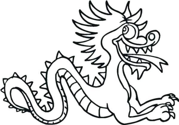 600x417 Chinese Dragon Coloring Drawn Dragon Cartoon 3 China Dragon