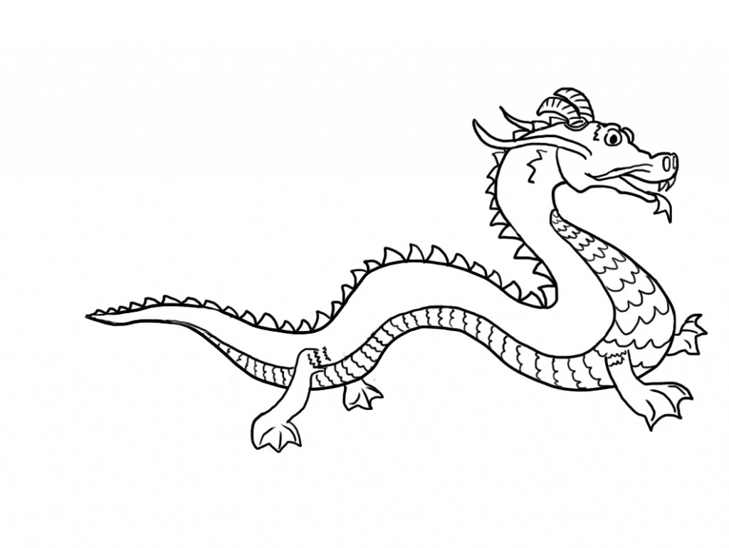1024x770 Chinese Dragons Drawings