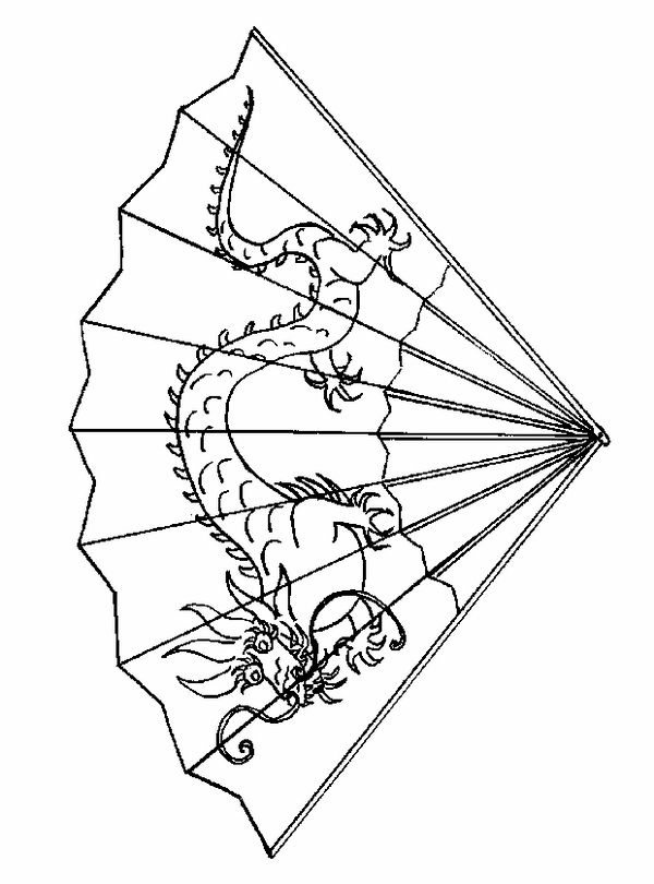 600x810 Chinese New Year Crafts For Kids Dragon Fan Printable Pages