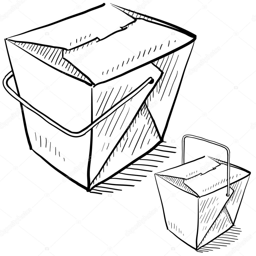 1024x1024 Chinese Food Box Sketch Stock Vector Lhfgraphics