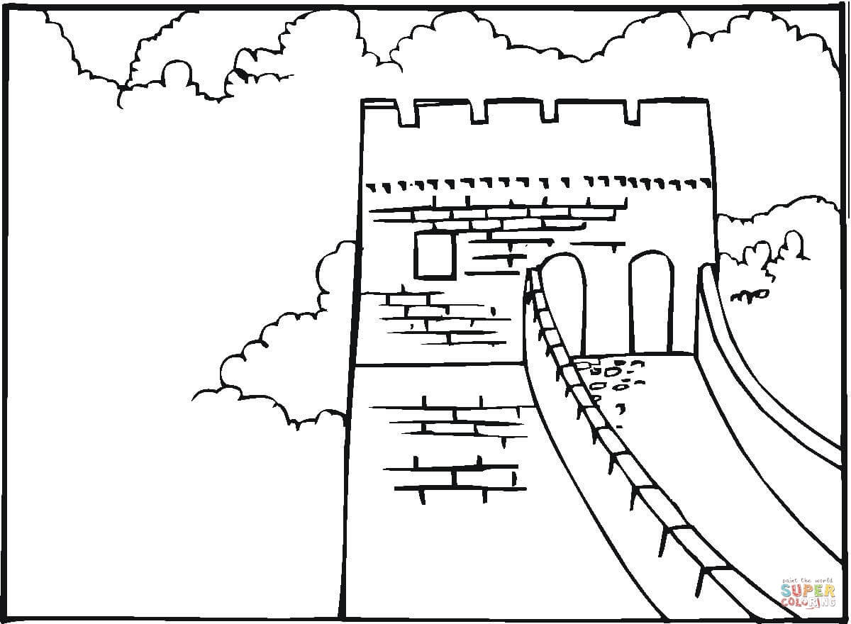 1200x880 Great Wall Of China Coloring Page Free Printable Coloring Pages