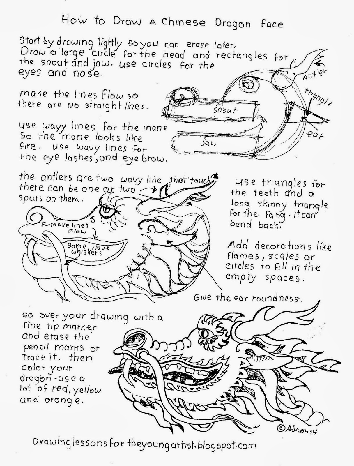 1216x1600 How To Draw A Chinese Dragon Head Worksheet, See More