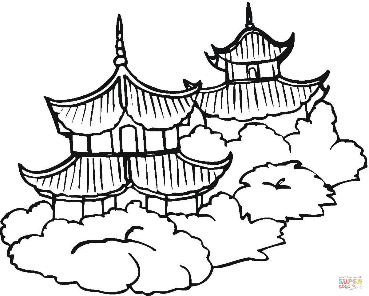 1200x962 Pagodas Coloring Page Free Printable Coloring Pages